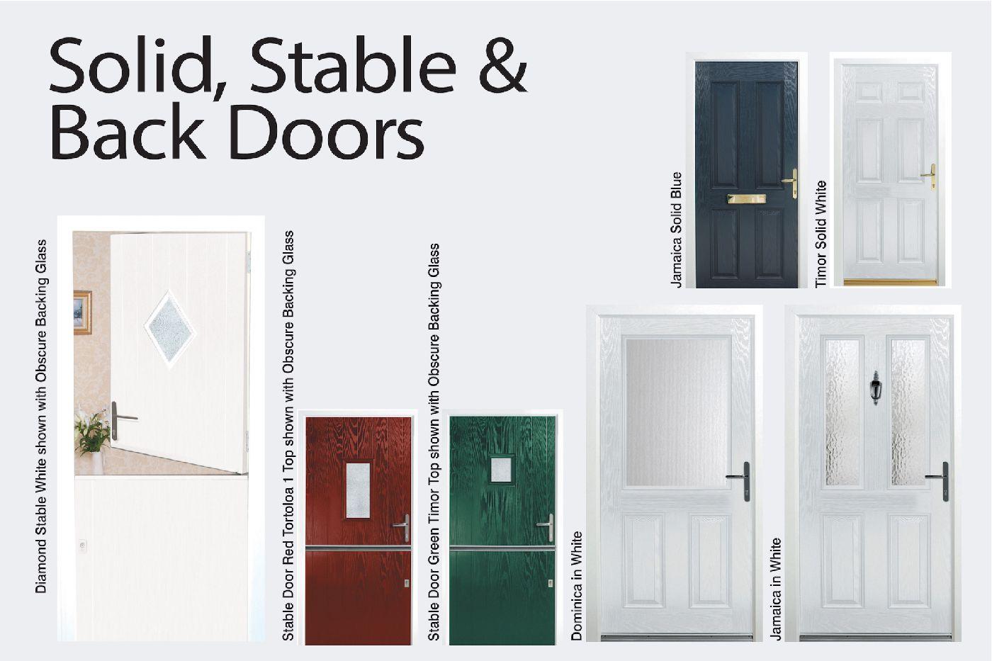 Back Doors Stable Doors u0026 Solid Doors  sc 1 st  uPVC Window u0026 Door Manufacturers in Bolton & uPVC Window u0026 Door Manufacturers in Bolton